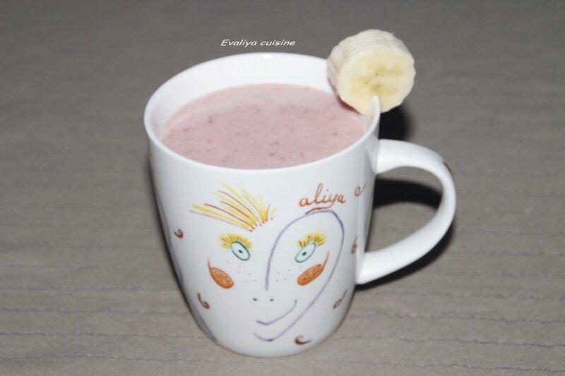 Milk shake fraises et bananes 2