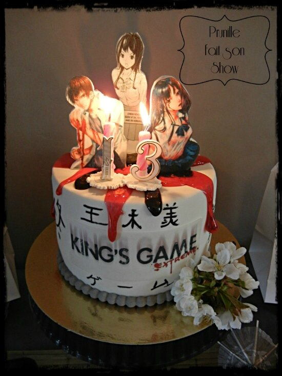 gateau manga kings game prunillefee