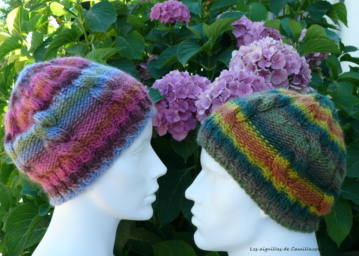 Bonnet mixte à tricoter rapidement. Unisex beanie fastly knit.