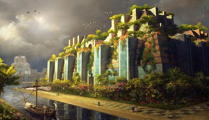 Jardins suspendus de Babylone - vue d'artiste