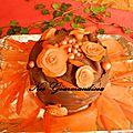 Gâteau décor rose et chocolat !