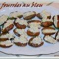 Dattes fourrees au bleu d'auvergne et noix et saumon aux 2 sesames