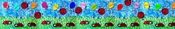 98_Outils pour la classe_ Les petites coccinelles (grande fresque)
