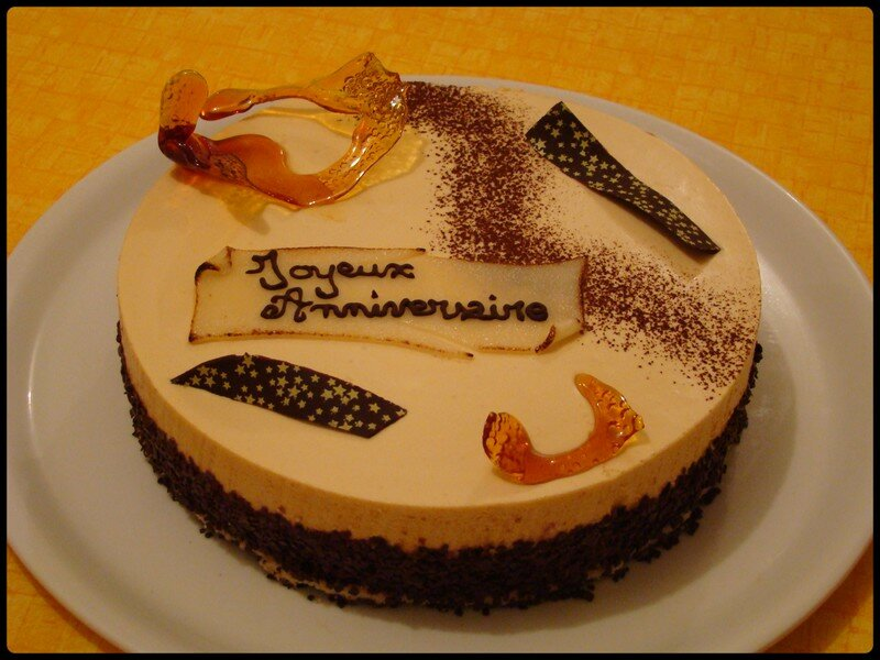 Gateau d'anniversaire au chocolat caramel