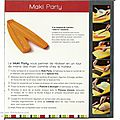 Fiche tupperware: maki party