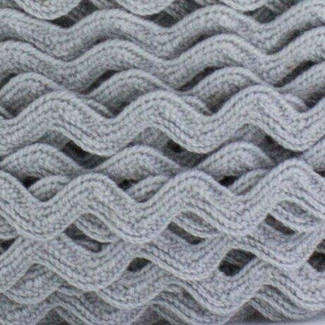 Serpentine coton 7mm GRIS au mètre