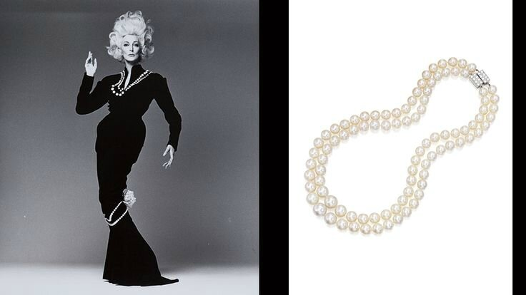 Carmen Dell'Orefice & Strands of Pearls