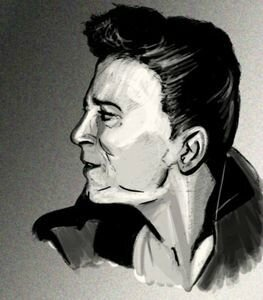Gene Vincent caricature