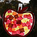 Les petites activités du weekend: l'automne en papier vitrail