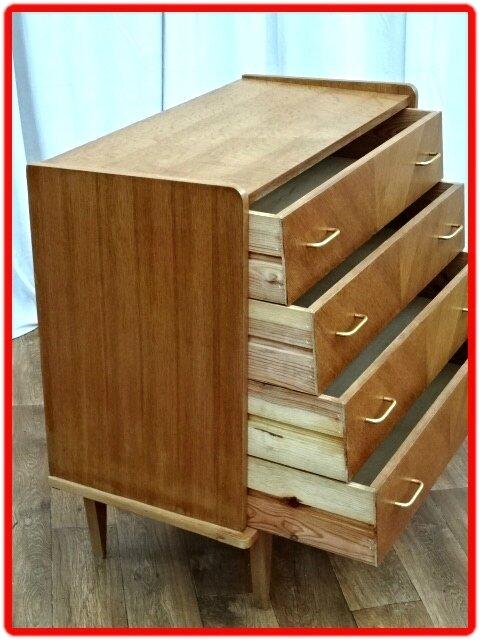 commode vintage 1960 bois clair (13)