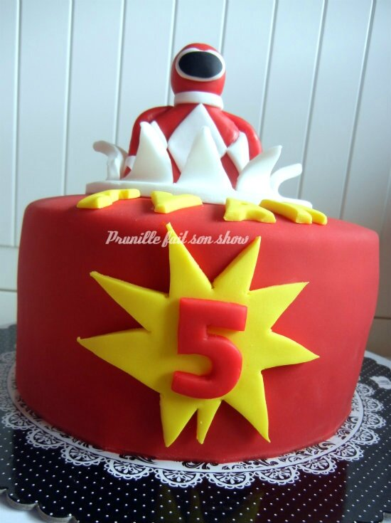 power rangers cake prunillefee2