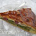 Galette thé matcha, framboises, chocolat blanc