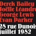 Derek bailey, joëlle léandre, george lewis, evan parker - 28 rue dunois 1982 (fou records)