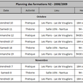 Planning des formations 2008-2009