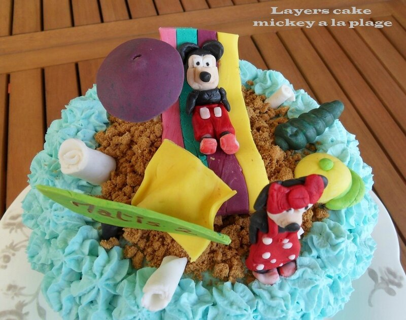 layers cake mickeey a la plage3