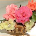 3 petites roses
