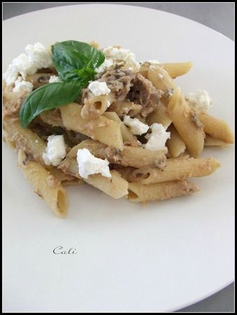 Penne au Caviar d'Aubergines &amp; Chavroux 001