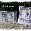 Cartes Joyeuses fêtes violettes