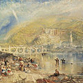 Joseph mallord william turner, heidelberg with a rainbow