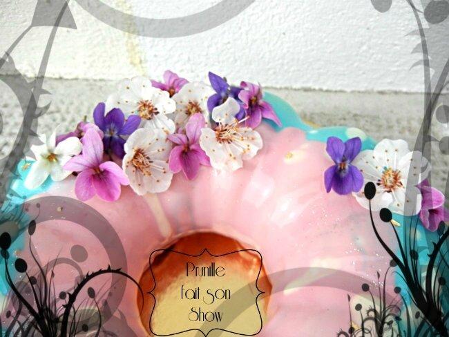 entremet bi colore fleur mangue speculoos caramel prunillefee
