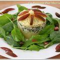 Effeuillé de cabillaud parmentier et sa petite salade de pousses du jardin
