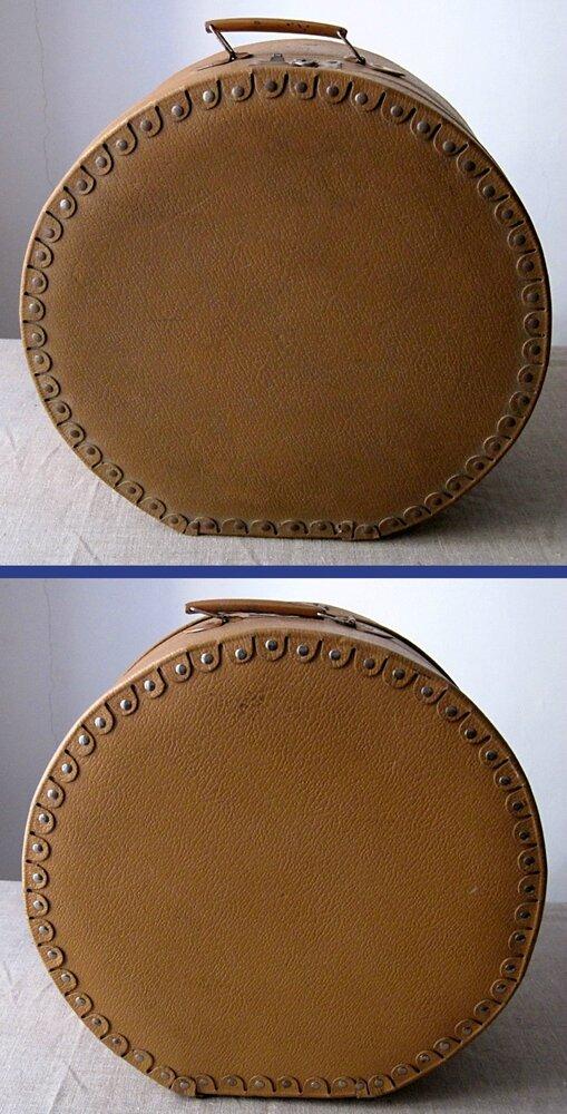 belle et grande bo te chapeau ancienne ebay. Black Bedroom Furniture Sets. Home Design Ideas