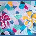 Grazy fleurs en soie peinte à la main