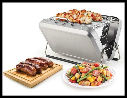 kikkerland barbecue portable 1