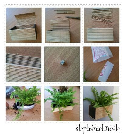 Diy d co v g tale magnet vegetal faire soi m me un - Decoration cadre photo a faire soi meme ...