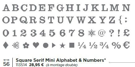 p68 square serif mini