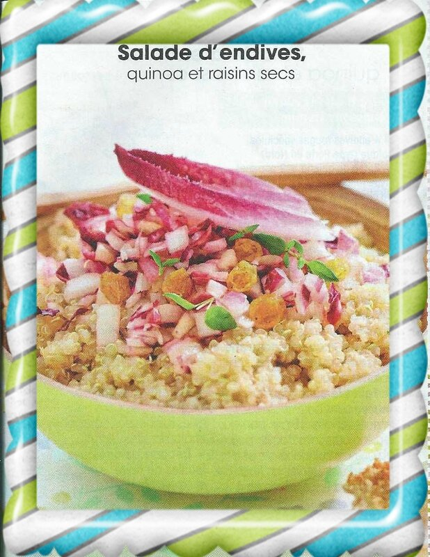 Salade d'endives Quinoa et raisins secs