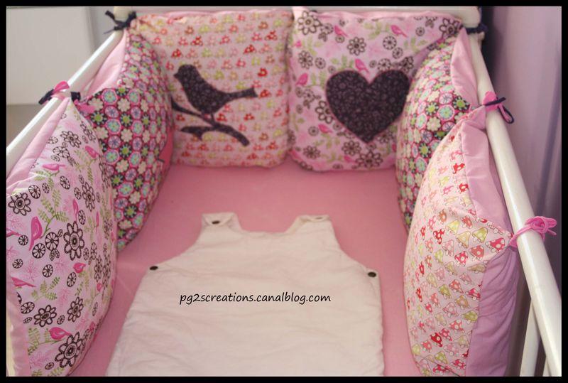 comment faire un tour de lit pour bébé Couture pour bébé fille   Etoiles et Petits Pois comment faire un tour de lit pour bébé