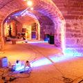 La salle de la Crypte (en préparation pour la soirée du 7 mai) - Musée d'art et d'histoire