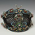 Headdress for a manchu court lady, made in china in the 19th century