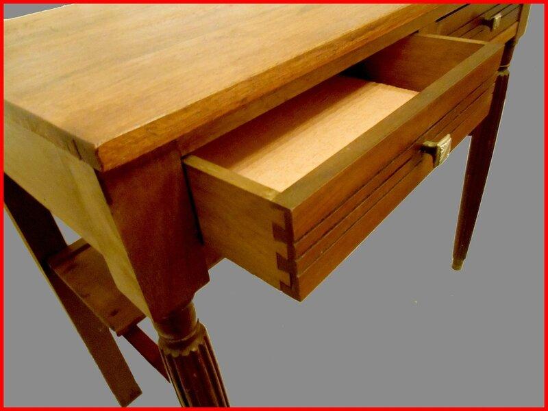 Table bureau ancienne bois massif