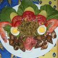 Assiette composé fruits de mer et légumes