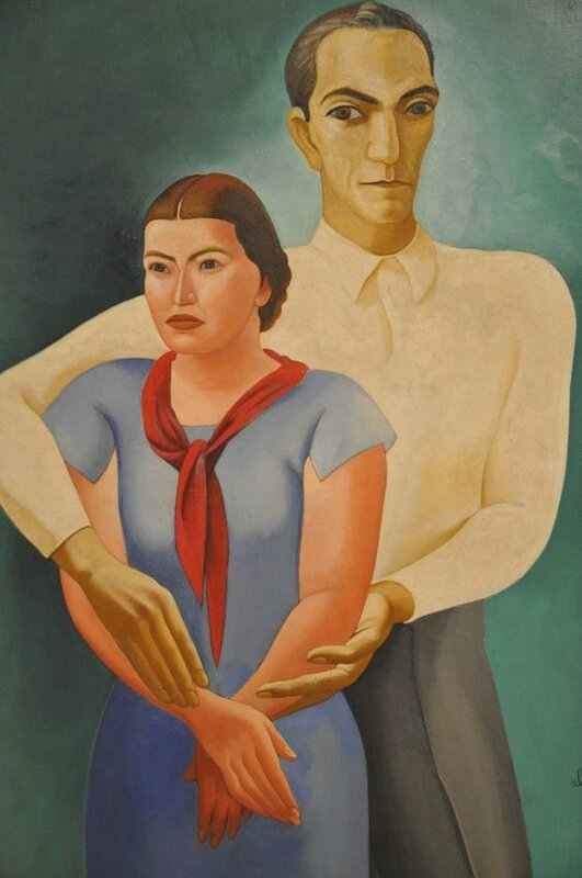 Almada-Negreiros Double portrait (The artist and his wife Sarah Afonso), 1934-1936