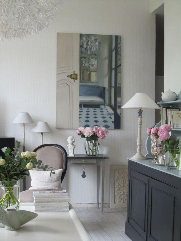 Une envol e de pivoines maison de campagne for Decoration maison flamande