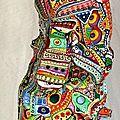 Hervé THAREL - SCHMIMBLOCK'S talltem 2013 - gouache T7 sur argile 45,5 x 10 cm 11