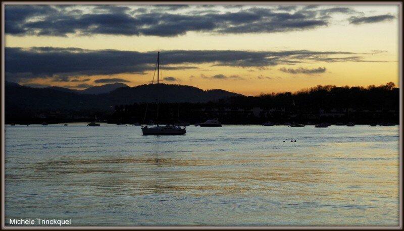 Coucher de soleil sur Baie d'Hendaye