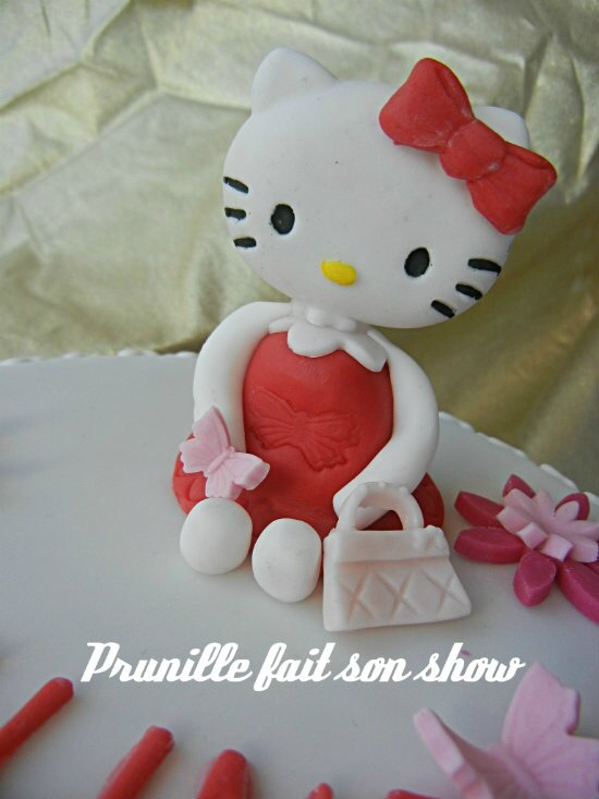 hello kitty pâte à sucre prunillefee
