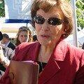 Danielle Mitterrand (quelques secondes après que je l'ai interviewée - Cf article, catégorie politique)