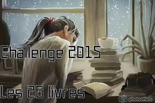 Challenge 2015, les 26 livres