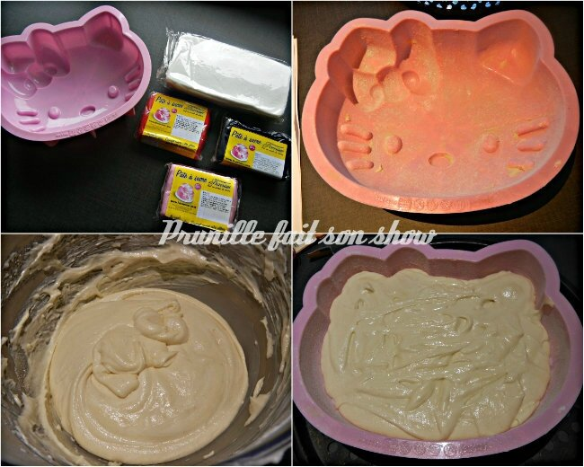 collage tuto hello kitty cake 1