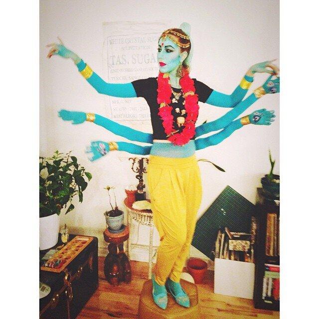 Shiva costume-halloween-makeup-Léonie Lévesque - maquilleuse