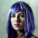 harriet-with-purple-hair-2013-oil-on-canvas-120x120-cm