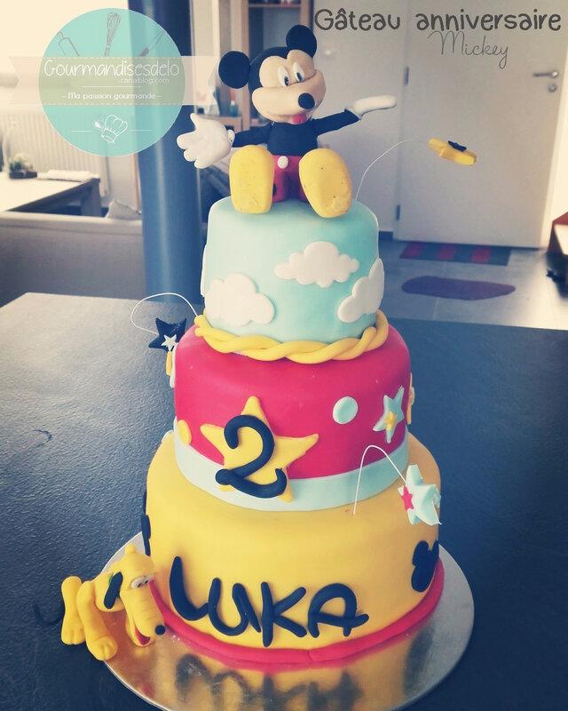 gâteau anniversaire Mickey (1)