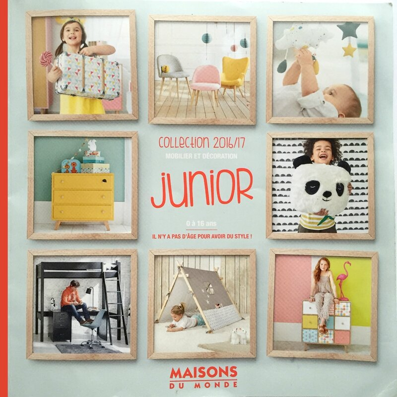 nouveau catalogue junior 2016 maisons du monde deco trendy a t e l i e r. Black Bedroom Furniture Sets. Home Design Ideas