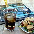 Cocktail cuba libre & ses mini-hamburgers