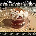 Verrine chantilly marrons